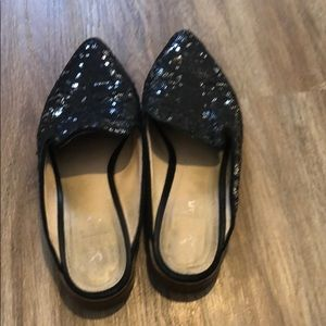 Shelly's of London black sequin mule